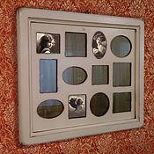 Сувениры и подарки ручной работы. Ярмарка Мастеров - ручная работа Фоторамка из дерева Большая рамка для фото кремовая. Handmade.