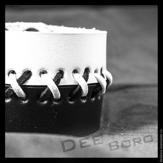 """Браслеты ручной работы. Ярмарка Мастеров - ручная работа. Купить Кожаный браслет """"ЧБ"""". Handmade. Кожаный браслет, замшевый браслет"""