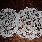 Винтаж handmade. Livemaster - original item Bobbin lace napkin,100% linen,Germany. Handmade.