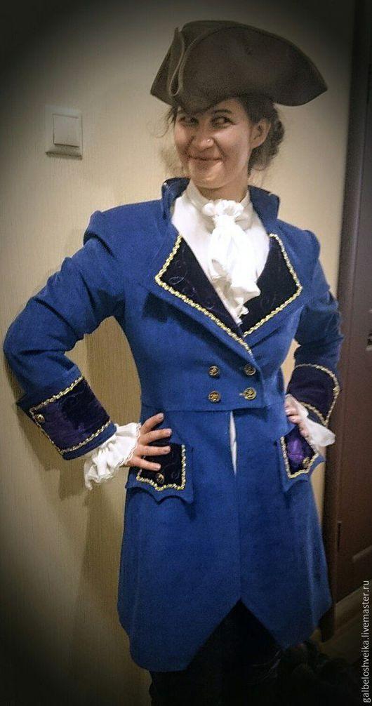 """Карнавальные костюмы ручной работы. Ярмарка Мастеров - ручная работа. Купить Камзол """"Пиратка 2"""". Handmade. Синий, костюм для аниматора"""