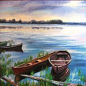 Картины и панно handmade. Livemaster - original item In the summer it is easy to get up early - oil painting. Handmade.