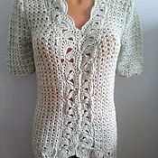 Одежда handmade. Livemaster - original item Knitted hollow-out blouse. Handmade.