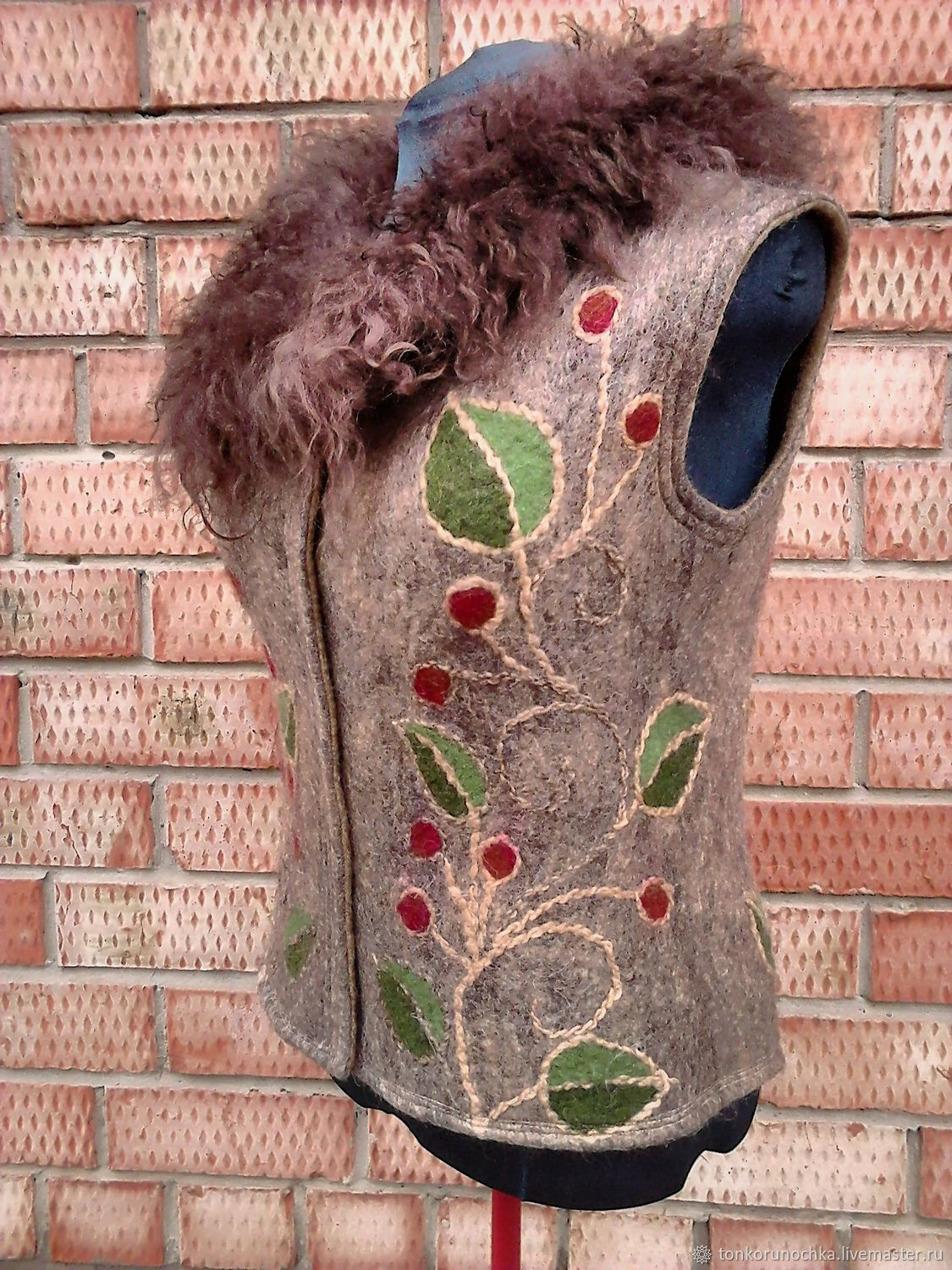 Milled vest 'Forest berry', Vests, Yeisk,  Фото №1