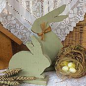 Для дома и интерьера ручной работы. Ярмарка Мастеров - ручная работа Деревянные зайцы. Handmade.