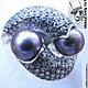 Кольца ручной работы. Ярмарка Мастеров - ручная работа. Купить Серебряное кольцо с натуральным морским  жемчугом. Handmade. Серебряный