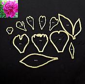 Материалы для творчества handmade. Livemaster - original item The cutters Peony petals and leaves, plastic. Handmade.