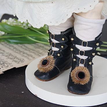 """Куклы и игрушки ручной работы. Ярмарка Мастеров - ручная работа Обувь для Антикварной и современной куклы """"Brown sunflower"""". Handmade."""