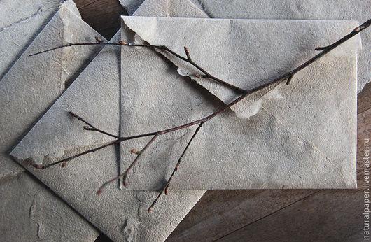Письменные приборы ручной работы. Ярмарка Мастеров - ручная работа. Купить Льняные конверты и бумага ручной работы. Handmade. Бежевый