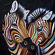 """Животные ручной работы. Ярмарка Мастеров - ручная работа. Купить Картина маслом """"Разноцветные зебры N4"""". Handmade. Комбинированный"""