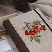 Канцелярские товары handmade. Livemaster - original item Notepad with fabric cover / Embroidery / A6 / Sketchbook / Diary. Handmade.