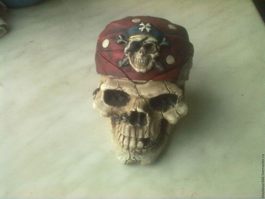 Пепельницы ручной работы. Ярмарка Мастеров - ручная работа. Купить череп пират. Handmade. Комбинированный, шкатулка, гипс