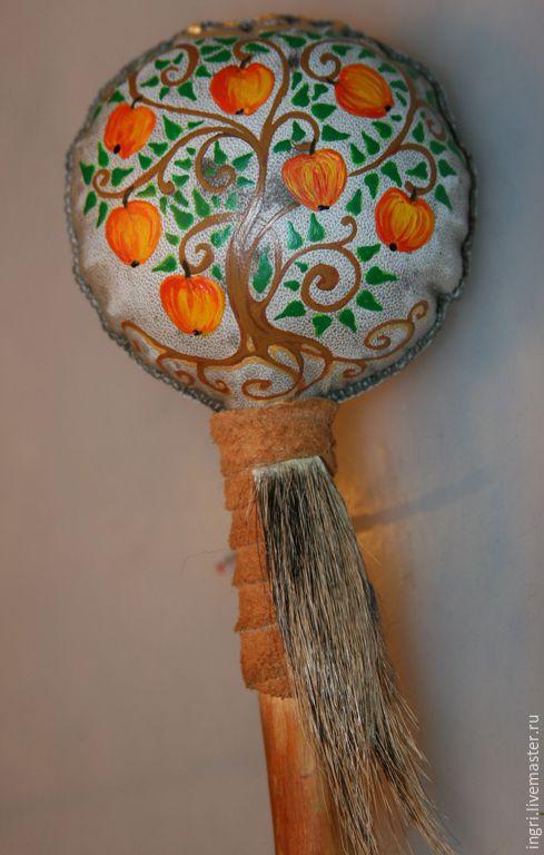 """Медитация ручной работы. Ярмарка Мастеров - ручная работа. Купить Шаманская погремушка """"Яблоня"""". Handmade. Предмет силы, шаманский, яблоня"""