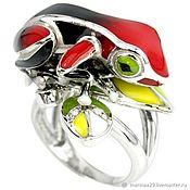 Кольца ручной работы. Ярмарка Мастеров - ручная работа Крупное кольцо Лягушка. Handmade.