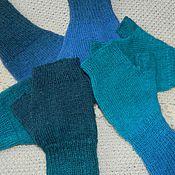 Аксессуары handmade. Livemaster - original item mitts, knitted aqua