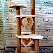 Домик для питомца ручной работы. Ярмарка Мастеров - ручная работа Комплекс для кошек без домика номер 161. Handmade.