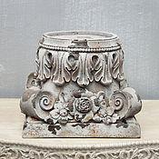Для дома и интерьера handmade. Livemaster - original item Stand-candlestick Shabby chic, console, half-column. Handmade.