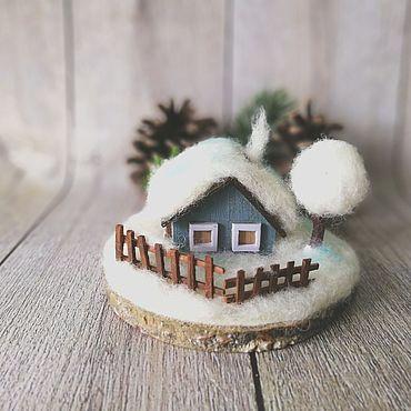 Для дома и интерьера ручной работы. Ярмарка Мастеров - ручная работа Домик для Зимы. Handmade.