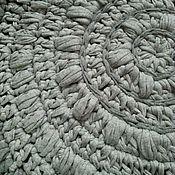 Для дома и интерьера ручной работы. Ярмарка Мастеров - ручная работа Коврик ``Серый меланж``  из трикотажной пряжи. Handmade.