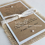 Свадебный салон handmade. Livemaster - original item Wedding invitation