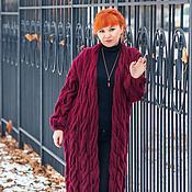 """Одежда ручной работы. Ярмарка Мастеров - ручная работа Кардиган  """"Зимняя вишня"""". Handmade."""