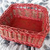 Для дома и интерьера ручной работы. Ярмарка Мастеров - ручная работа Прямоугольная плетеная коробка. Handmade.