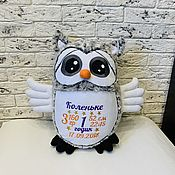 Куклы и игрушки handmade. Livemaster - original item Named toy WISE OWL. Handmade.