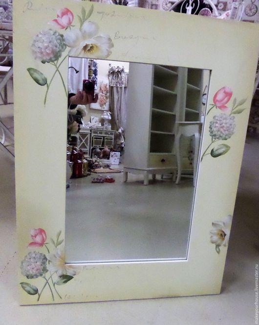 """Зеркала ручной работы. Ярмарка Мастеров - ручная работа. Купить Зеркало. Коллекция """" Цветы Прованса"""". Handmade. Зеркало"""
