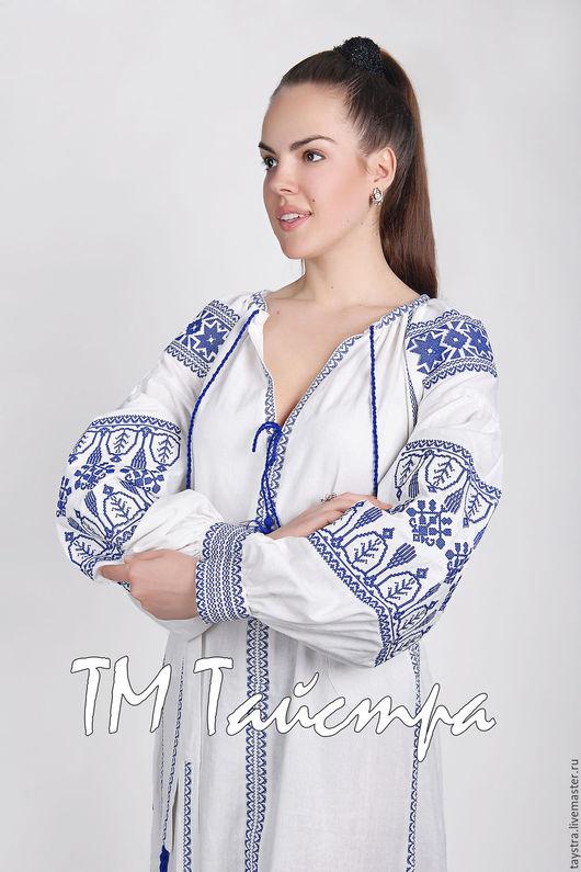 Платья ручной работы. Ярмарка Мастеров - ручная работа. Купить Платье льняное женское вышитое,бохо, этно стиль  Vita Kin,Bohemian. Handmade.