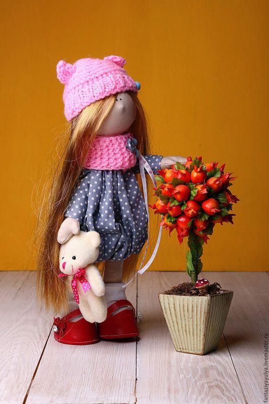 Куклы тыквоголовки ручной работы. Ярмарка Мастеров - ручная работа. Купить Интерьерная текстильная куколка. Handmade. Комбинированный, текстильная кукла