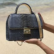 Сумки и аксессуары handmade. Livemaster - original item Fartuna Python leather handbag. Handmade.