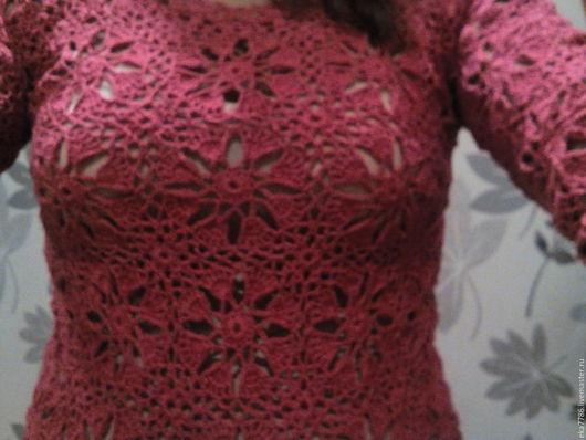 Платья ручной работы. Ярмарка Мастеров - ручная работа. Купить платье малиновое. Handmade. Розовый, повседневное платье, мотивы крючком