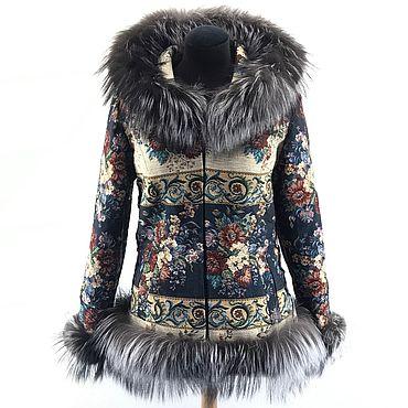 Одежда ручной работы. Ярмарка Мастеров - ручная работа Куртка с мехом черно-бурой лисицы. Handmade.