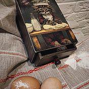 Для дома и интерьера ручной работы. Ярмарка Мастеров - ручная работа Мой маленький повар (короб для кухни). Handmade.