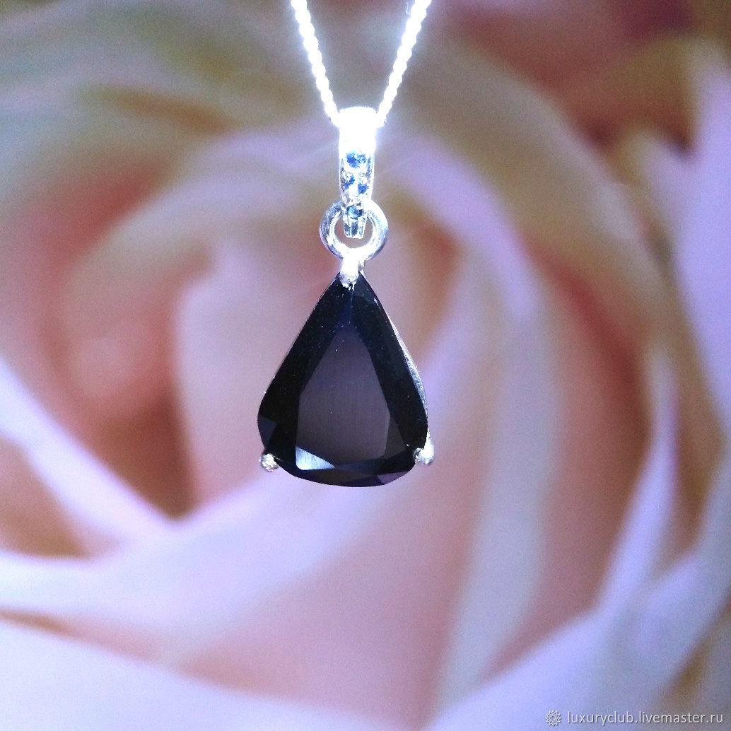 Pendant with black diamond 'pulsar' buy, Pendants, Tolyatti,  Фото №1