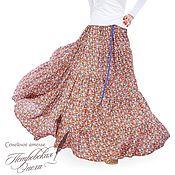 """Одежда ручной работы. Ярмарка Мастеров - ручная работа Летняя ярусная юбка ,,Полина""""1. Handmade."""