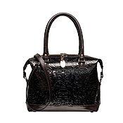Женская кожаная сумка-саквояж 430