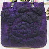 Сумки и аксессуары handmade. Livemaster - original item Shopping bag felted black rose. Handmade.