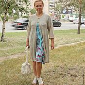 "Одежда handmade. Livemaster - original item Knitted cardigan ""Favourite len-2"". Handmade."