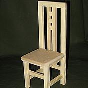 Мебель для кукол ручной работы. Ярмарка Мастеров - ручная работа Стульчик деревянный № 1. Handmade.