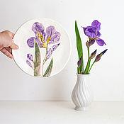 Для дома и интерьера ручной работы. Ярмарка Мастеров - ручная работа Тарелка Ирис. Handmade.