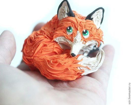 """Игрушки животные, ручной работы. Ярмарка Мастеров - ручная работа. Купить фигурка """"рыжая лисичка лежит"""" (лиса игрушка, лиса статуэтка). Handmade."""