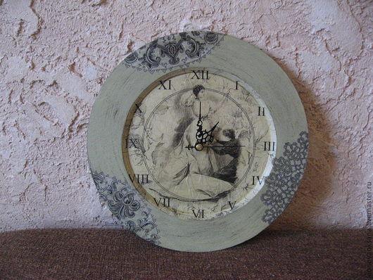 """Часы для дома ручной работы. Ярмарка Мастеров - ручная работа. Купить Часы """"Забвение черного кружева"""". Handmade. Часы, дерево"""