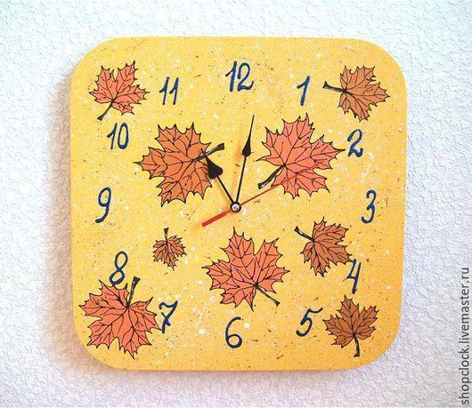 Часы для дома ручной работы. Ярмарка Мастеров - ручная работа. Купить Часы настенные Осень Листопад, часы ручной работы. Handmade.