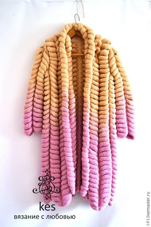 """Кофты и свитера ручной работы. Ярмарка Мастеров - ручная работа. Купить Кардиган вязаный """"Никтарин """". Handmade. Разноцветный, keslove"""