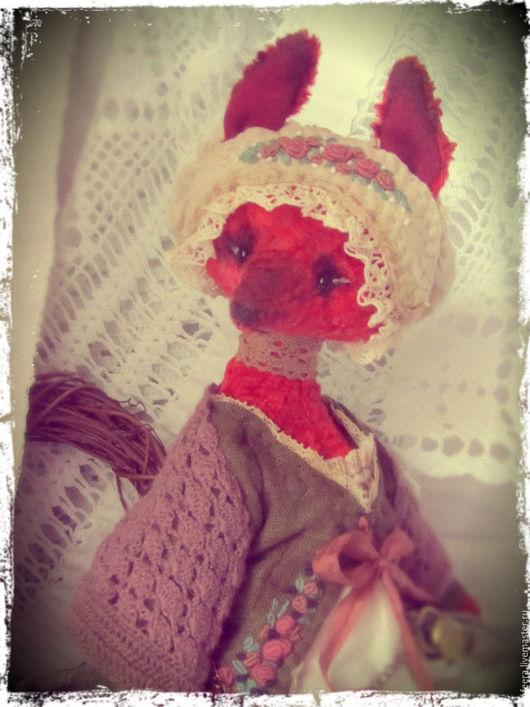 Мишки Тедди ручной работы. Ярмарка Мастеров - ручная работа. Купить Лисица-парфюмерица.. Handmade. Рыжий, коллекционная кукла, кружева