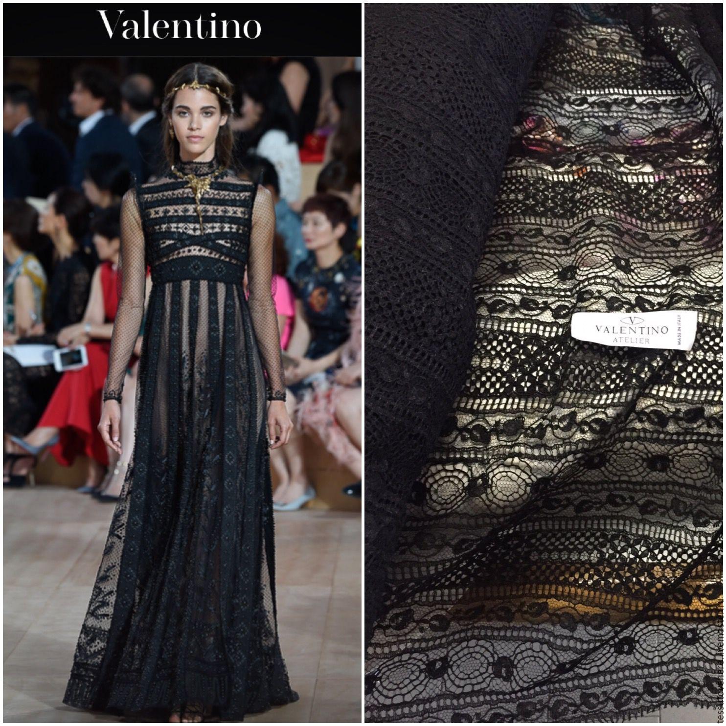 Платье из кружева от валентино