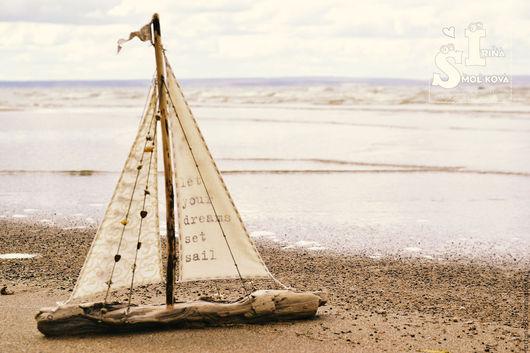 Персональные подарки ручной работы. Ярмарка Мастеров - ручная работа. Купить кораблик большой. Handmade. Кораблик, подарок на 23 февраля, паруса