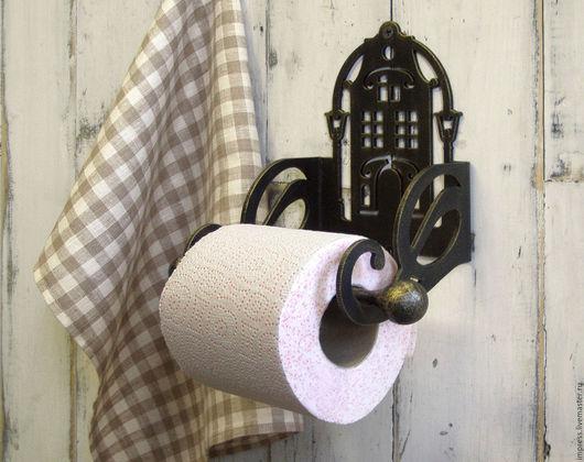 Ванная комната ручной работы. Ярмарка Мастеров - ручная работа. Купить Держатель для туалетной бумаги Ночь улица фонарь аптека. Handmade.