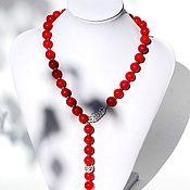 Украшения handmade. Livemaster - original item Necklace tie with coral. Handmade.