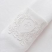 Свадебный салон handmade. Livemaster - original item Napkin with the volume embroidery